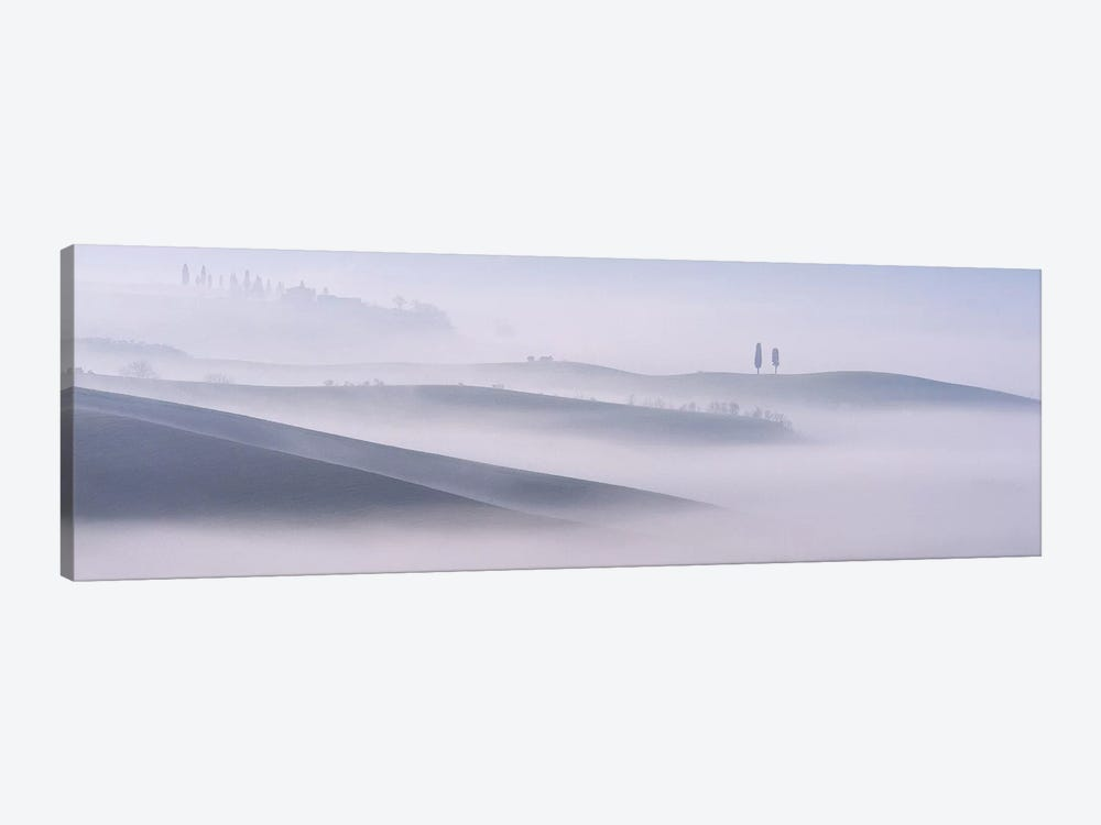 Dawn Mist In Val d'Orcia, Tuscany by Andy Mumford 1-piece Art Print