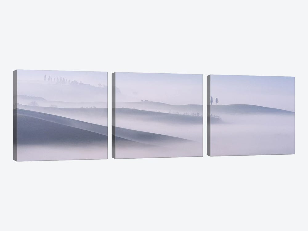 Dawn Mist In Val d'Orcia, Tuscany by Andy Mumford 3-piece Art Print