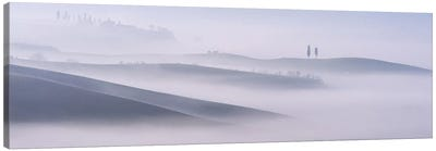 Dawn Mist In Val d'Orcia, Tuscany Canvas Art Print