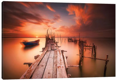 Red Sunset At Carrasqueira, Alentejo Canvas Art Print
