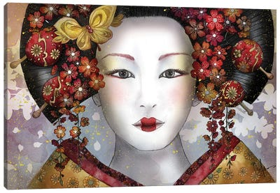 Becoming A Geisha Canvas Art Print