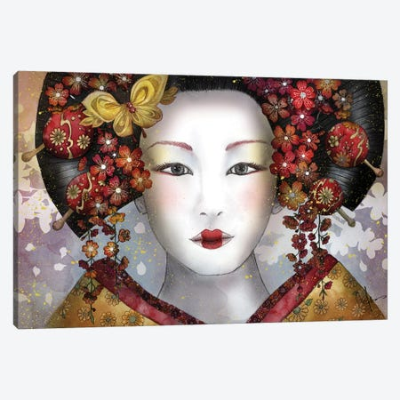 Becoming A Geisha 3-Piece Canvas #MUP12} by Marine Loup Canvas Artwork