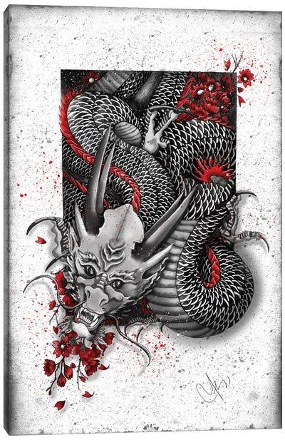 Black Dragon Canvas Art Print