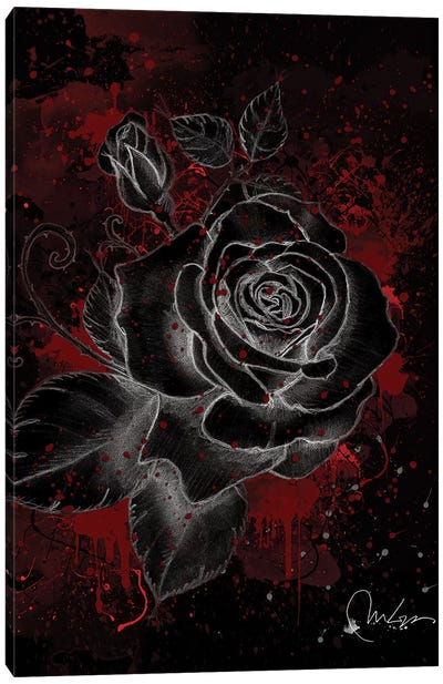 Black Rose Canvas Art Print