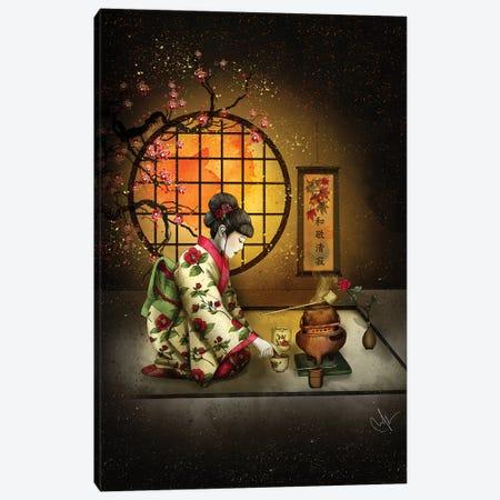 Camellia Tea Canvas Print #MUP18} by Marine Loup Canvas Wall Art
