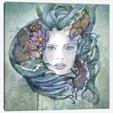 Cyan Canvas Print #MUP23} by Marine Loup Canvas Art Print