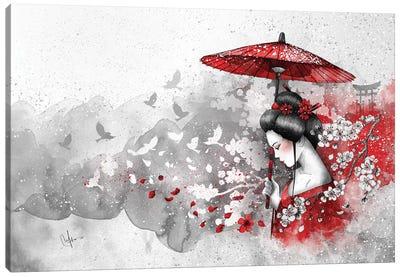 Falling Blossoms Canvas Art Print
