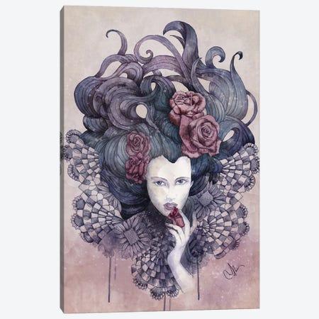 Indigo Eyes Canvas Print #MUP35} by Marine Loup Art Print