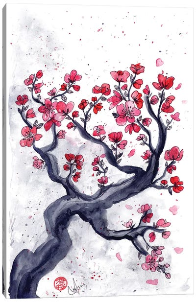 Japanese Plum (Ume) Canvas Art Print