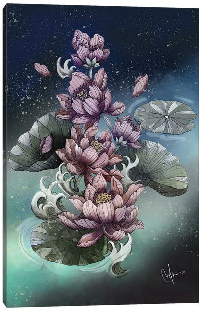 Lotus Flower Canvas Art Print