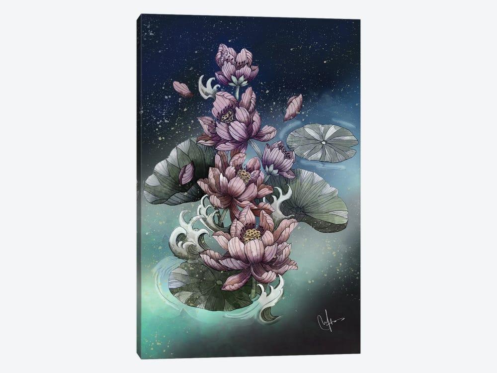 Lotus Flower by Marine Loup 1-piece Canvas Art
