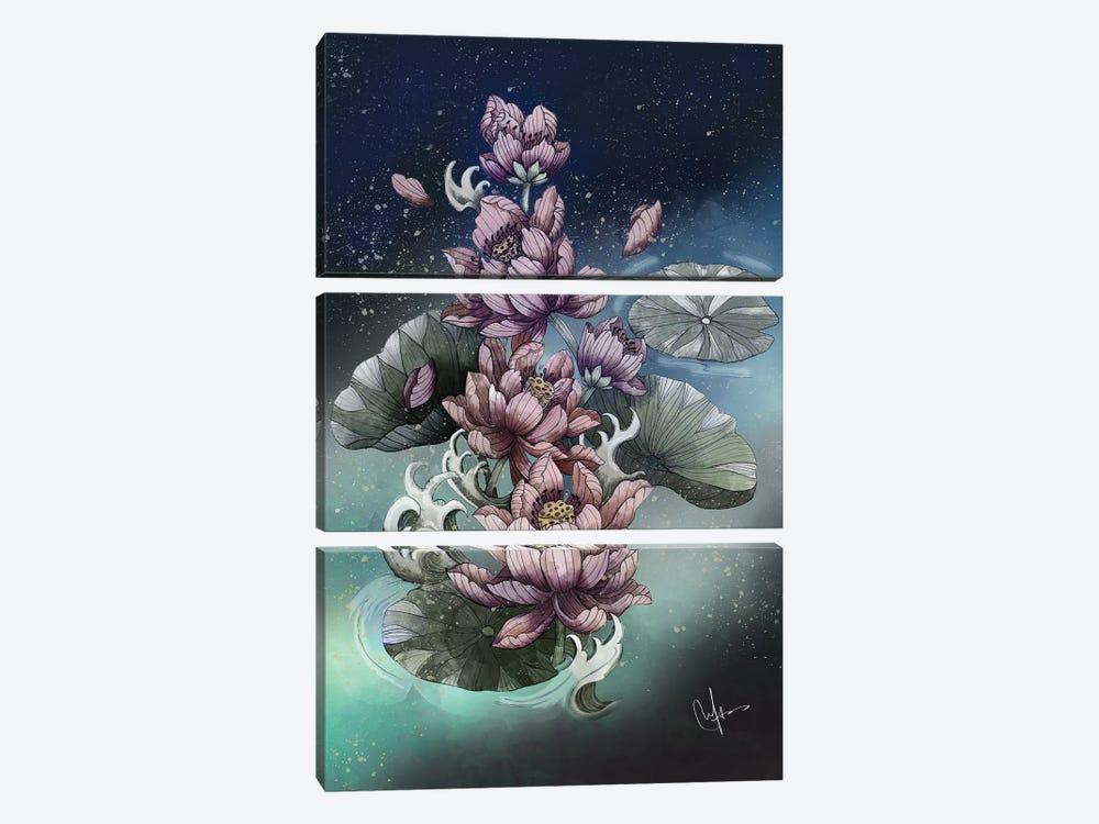 Lotus Flower by Marine Loup 3-piece Canvas Artwork