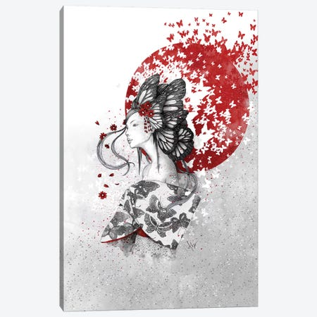 Madame Butterfly Canvas Print #MUP48} by Marine Loup Art Print