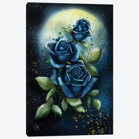 Night Roses Canvas Print #MUP53} by Marine Loup Canvas Artwork