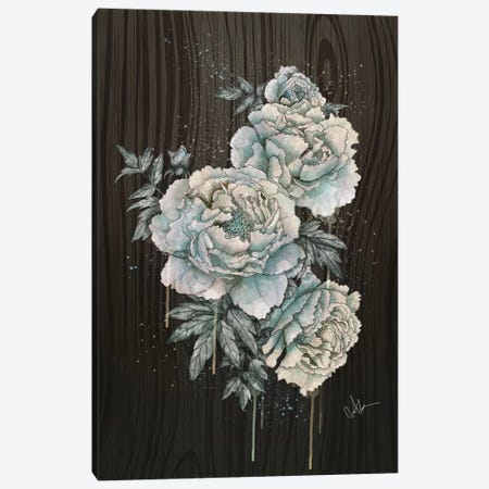 Peony Wood 3-Piece Canvas #MUP56} by Marine Loup Canvas Art Print