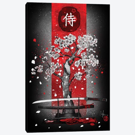 Samurai Canvas Print #MUP57} by Marine Loup Canvas Art Print
