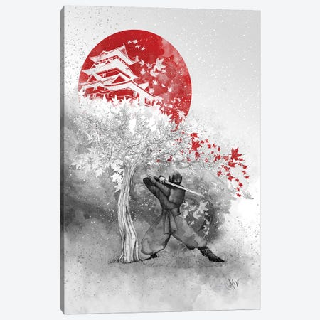 The Warrior And The Wind 3-Piece Canvas #MUP63} by Marine Loup Art Print