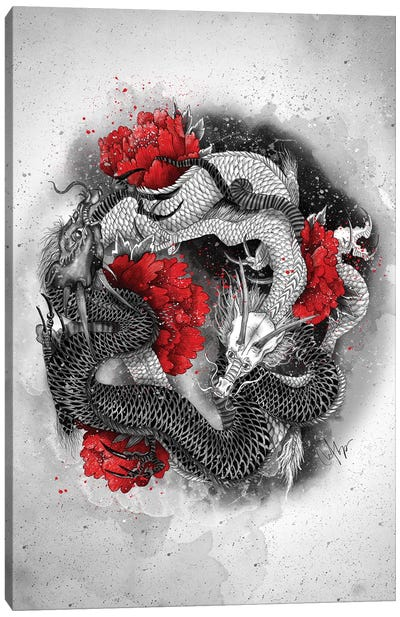 Two Dragons Canvas Art Print