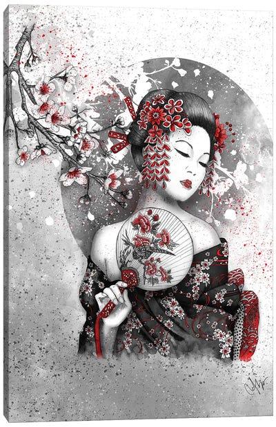 Under The Flower Canvas Art Print
