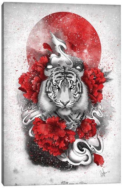 White Tiger Canvas Art Print