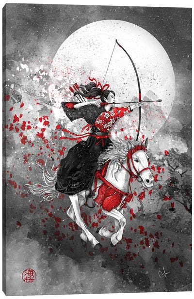 Yabusame - Horse And Rider Canvas Art Print