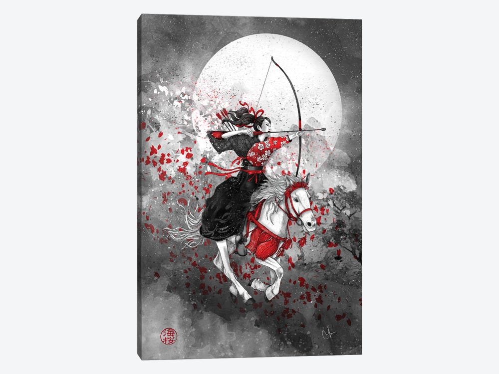 Yabusame - Horse And Rider by Marine Loup 1-piece Canvas Art
