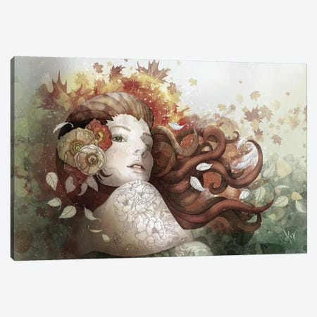 Autumn Whispers Canvas Print #MUP7} by Marine Loup Canvas Art Print