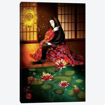 Hotaru Firefly Canvas Print #MUP83} by Marine Loup Art Print