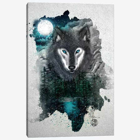 Night Of The Wolf Canvas Print #MUP84} by Marine Loup Canvas Art