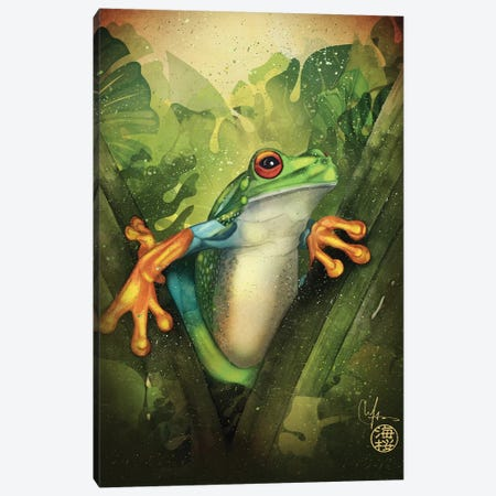 The Frog Canvas Print #MUP89} by Marine Loup Canvas Art Print