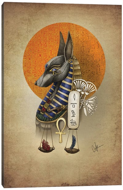 Anubis Canvas Art Print