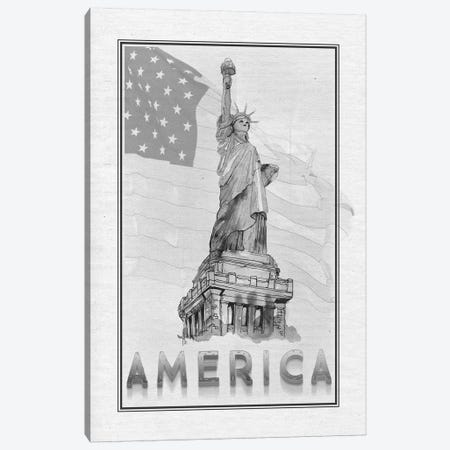 Travel America Canvas Print #MUR13} by Ramona Murdock Canvas Artwork