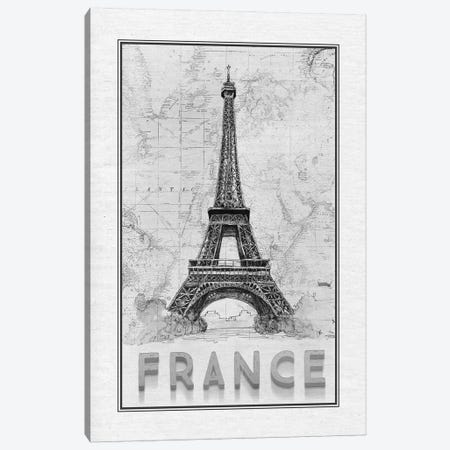 Travel France Canvas Print #MUR14} by Ramona Murdock Canvas Print
