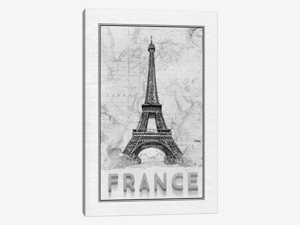 Travel France by Ramona Murdock 1-piece Canvas Art