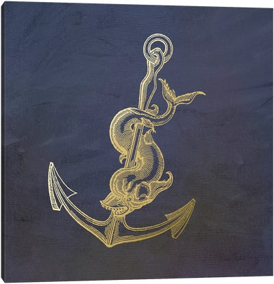 Golden Anchor Canvas Art Print