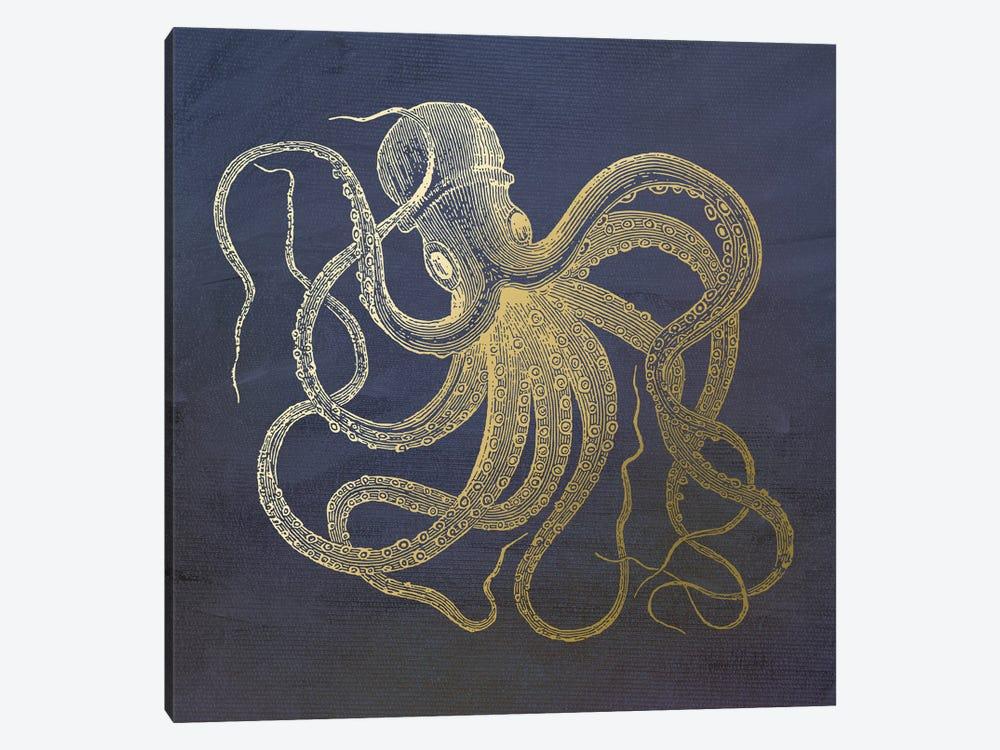 Golden Octopus by Ramona Murdock 1-piece Canvas Artwork