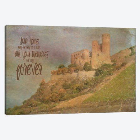 Memories Last Forever Canvas Print #MUR9} by Ramona Murdock Canvas Wall Art