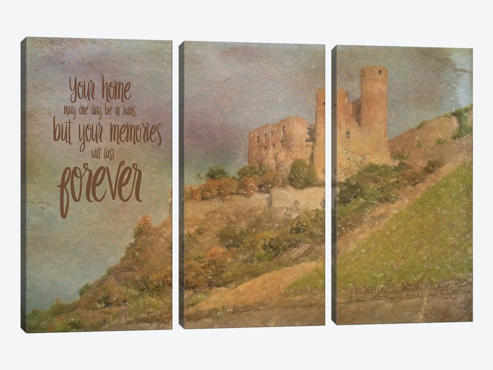 Memories Last Forever by Ramona Murdock 3-piece Canvas Wall Art