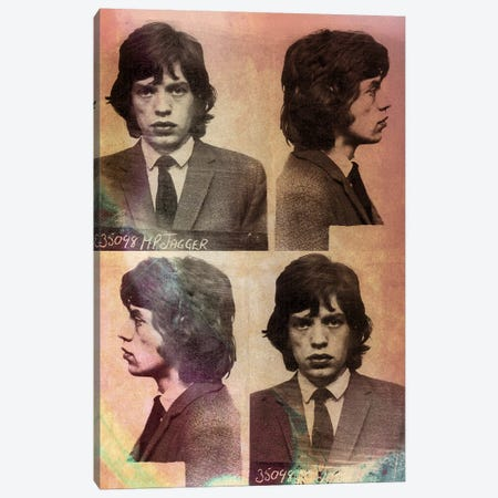 Mick Jagger Canvas Print #MUS11} by 5by5collective Canvas Print
