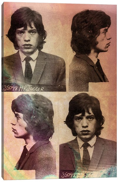 Mick Jagger Canvas Print #MUS11