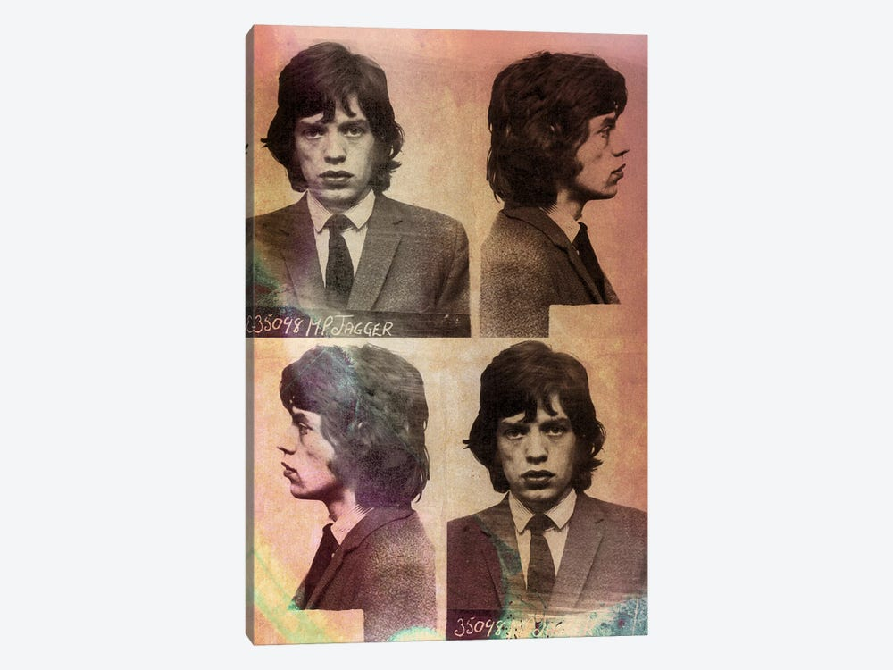 Mick Jagger by 5by5collective 1-piece Canvas Wall Art