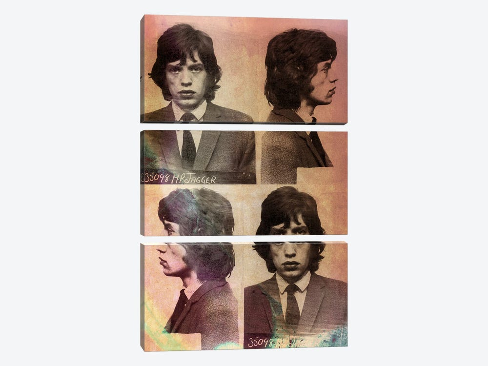 Mick Jagger by 5by5collective 3-piece Canvas Art