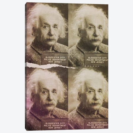 Albert Einstein Canvas Print #MUS14} by 5by5collective Canvas Artwork