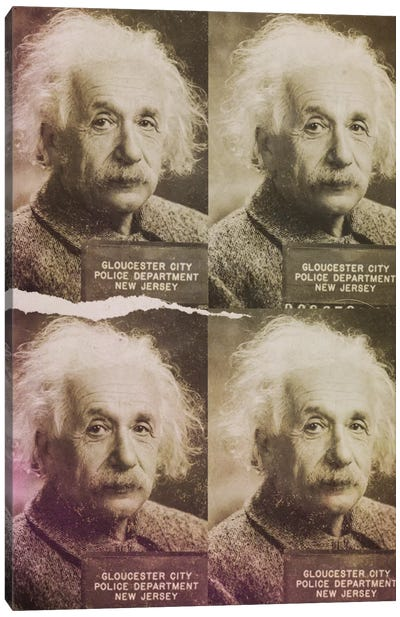 Albert Einstein Canvas Print #MUS14
