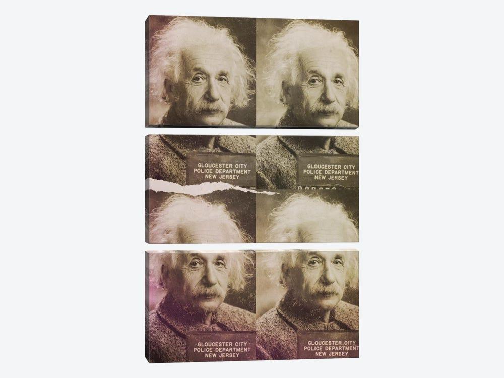 Albert Einstein by 5by5collective 3-piece Canvas Print