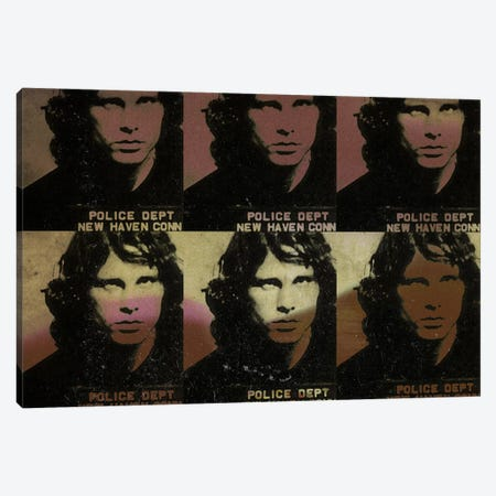 Jim Morrison Canvas Print #MUS8} by 5by5collective Canvas Art Print