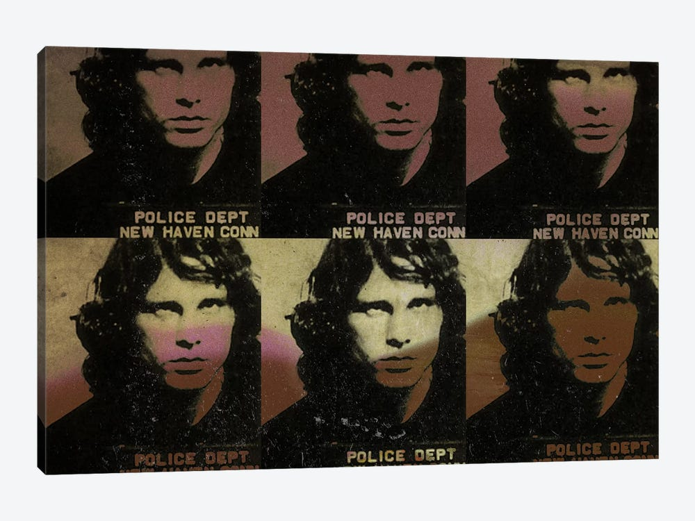 Jim Morrison by 5by5collective 1-piece Canvas Artwork