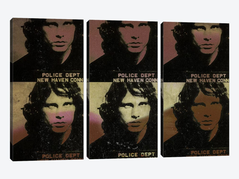 Jim Morrison by 5by5collective 3-piece Canvas Art