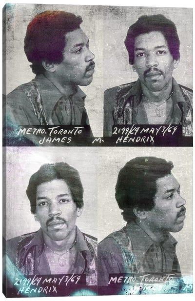 Jimi Hendrix Canvas Print #MUS9