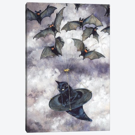 Batmobile Canvas Print #MVA10} by Maggie Vandewalle Art Print